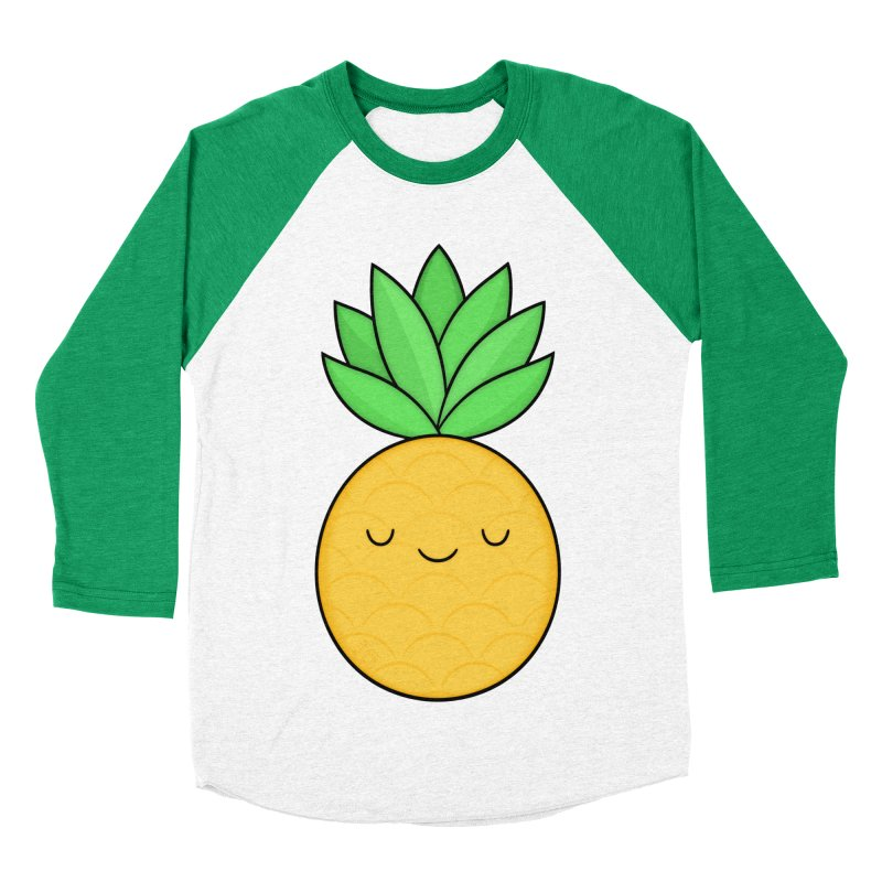 Happy Pineapple Men's Longsleeve T-Shirt by Kim Vervuurt
