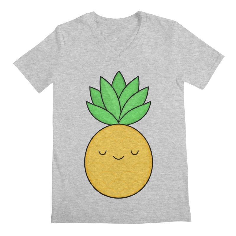Happy Pineapple Men's V-Neck by Kim Vervuurt