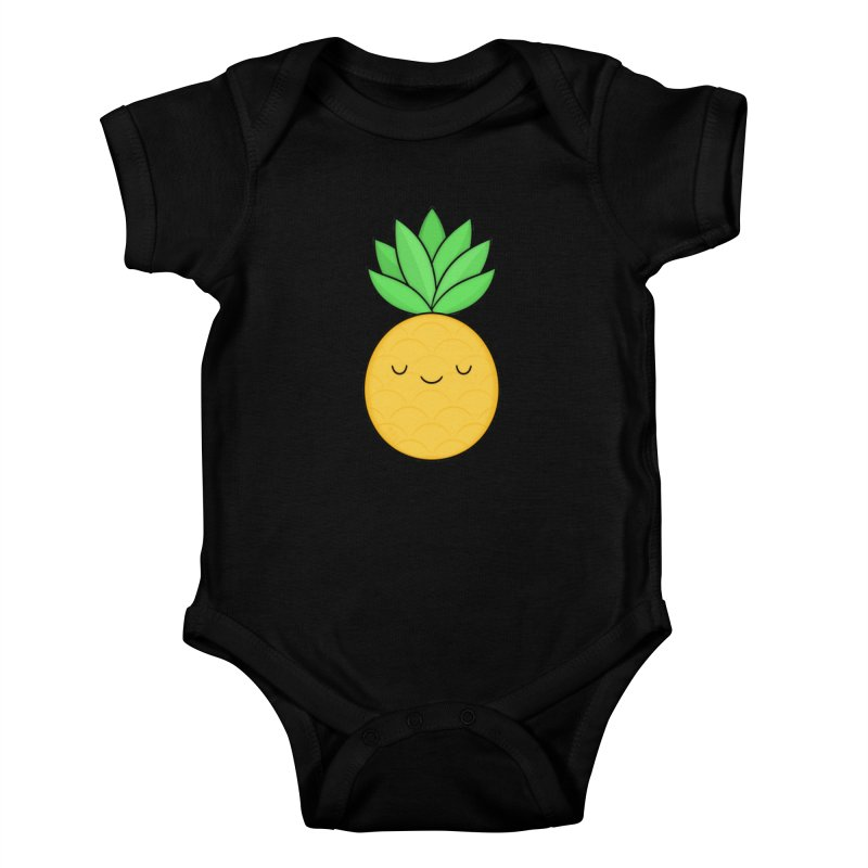 Happy Pineapple Kids Baby Bodysuit by Kim Vervuurt