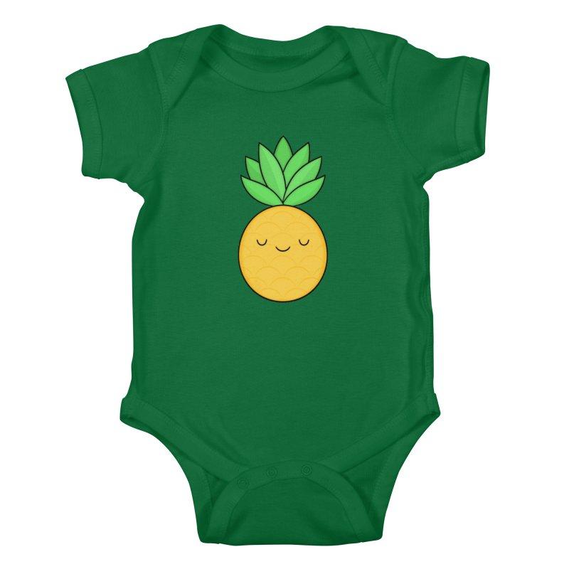 Happy Pineapple Kids Baby Bodysuit by Kim Vervuurt