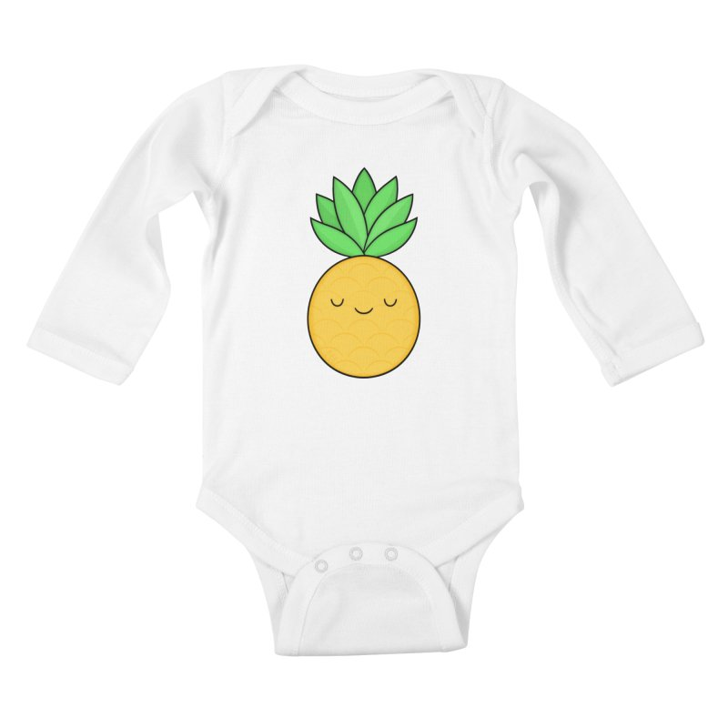 Happy Pineapple Kids Baby Longsleeve Bodysuit by Kim Vervuurt