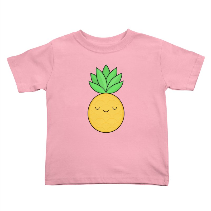 Happy Pineapple Kids Toddler T-Shirt by Kim Vervuurt