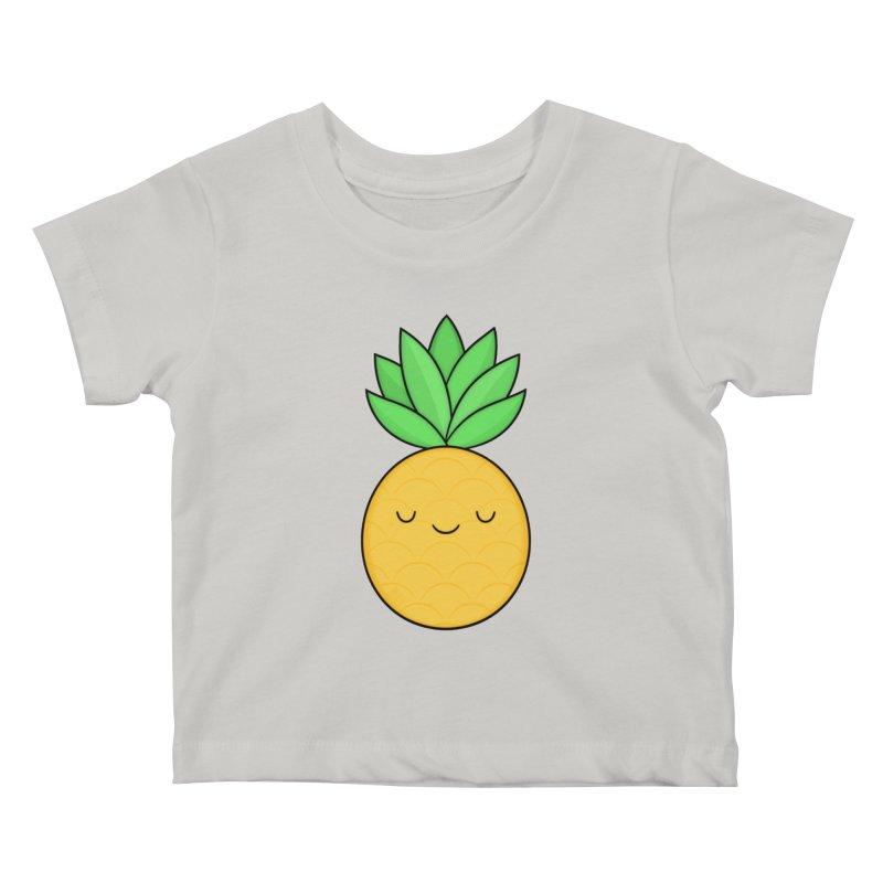 Happy Pineapple Kids Baby T-Shirt by Kim Vervuurt