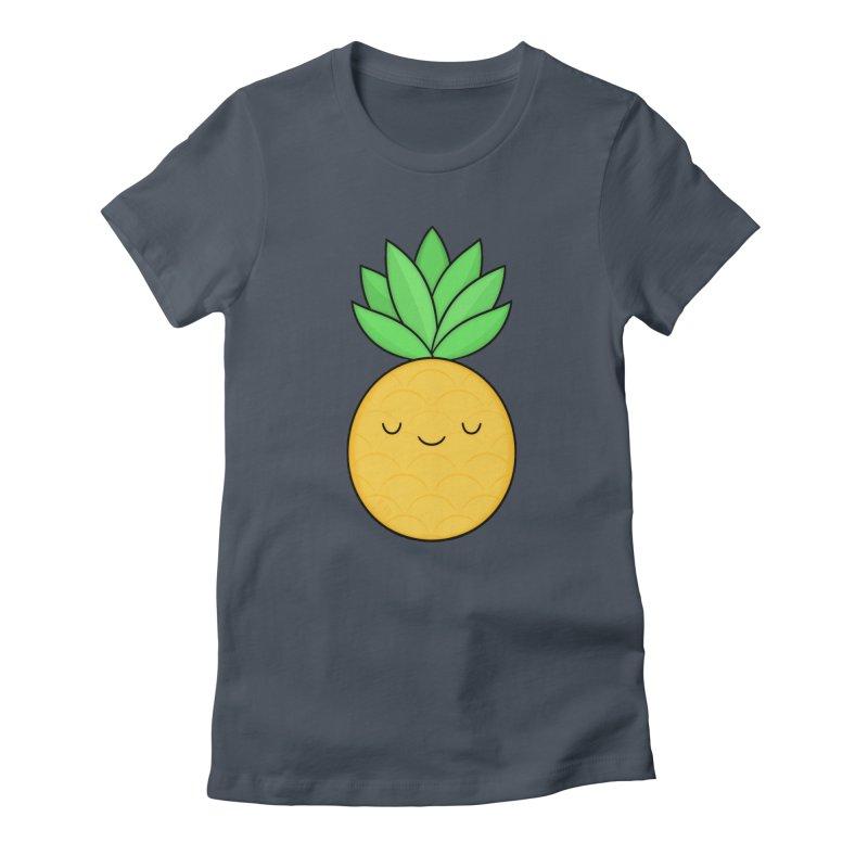 Happy Pineapple Women's T-Shirt by Kim Vervuurt
