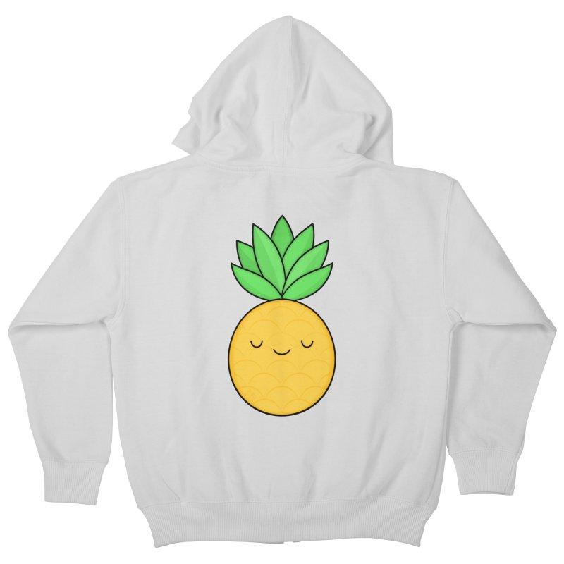 Happy Pineapple Kids Zip-Up Hoody by Kim Vervuurt