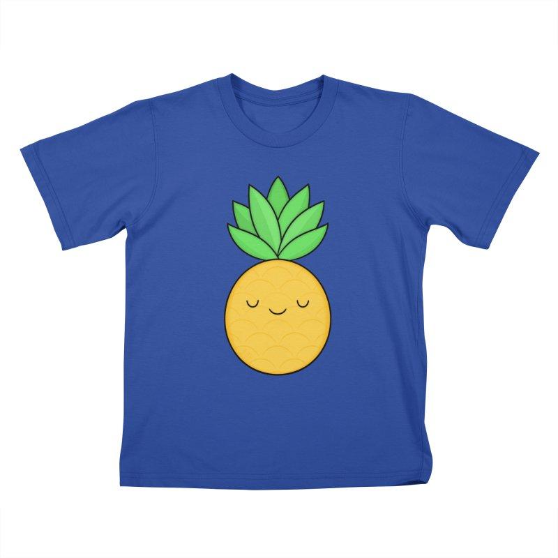 Happy Pineapple Kids T-Shirt by Kim Vervuurt