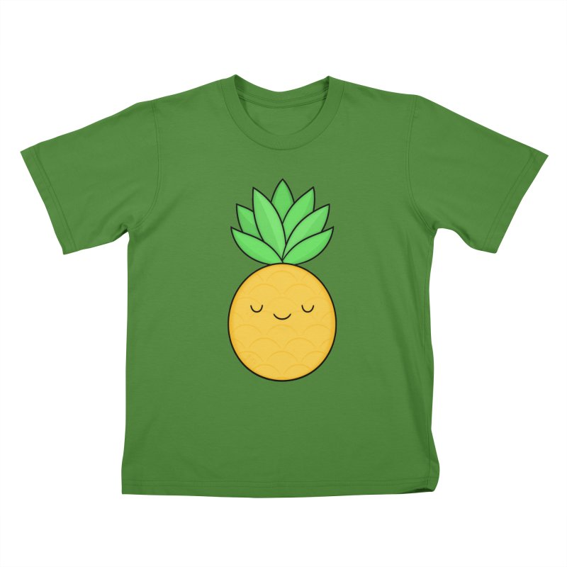 Happy Pineapple Kids T-Shirt by Kim Vervuurt