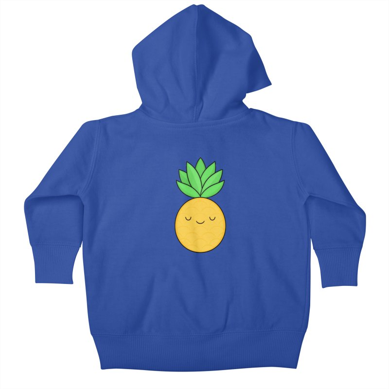 Happy Pineapple Kids Baby Zip-Up Hoody by Kim Vervuurt