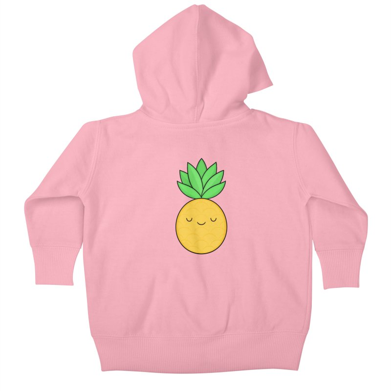 Happy Pineapple Kids Baby Zip-Up Hoody by Kim Vervuurt