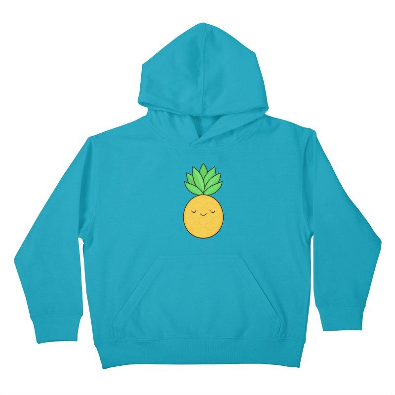 Happy Pineapple Kids Pullover Hoody by Kim Vervuurt