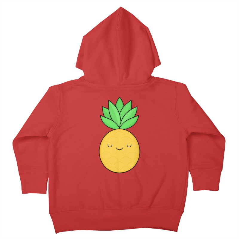 Happy Pineapple Kids Toddler Zip-Up Hoody by Kim Vervuurt