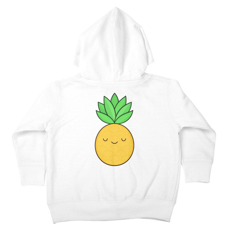 Happy Pineapple Kids Toddler Zip-Up Hoody by Kim Vervuurt