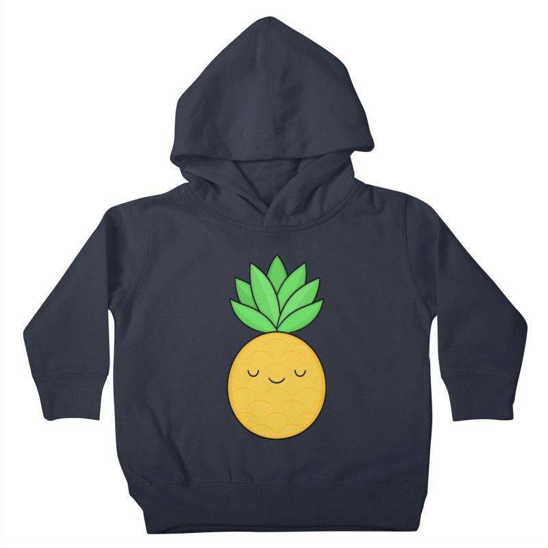 Happy Pineapple Kids Toddler Pullover Hoody by Kim Vervuurt