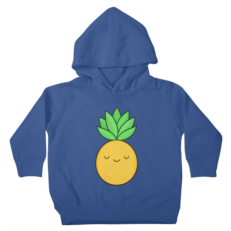 Happy Pineapple Kids Toddler Pullover Hoody by Kim Vervuurt