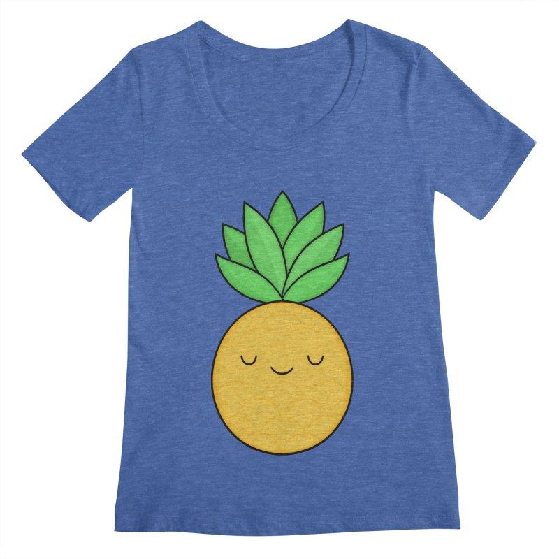 Happy Pineapple Women's Scoopneck by Kim Vervuurt