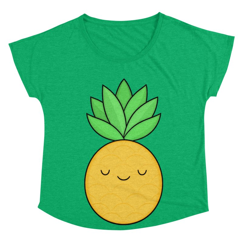 Happy Pineapple Women's Dolman Scoop Neck by Kim Vervuurt