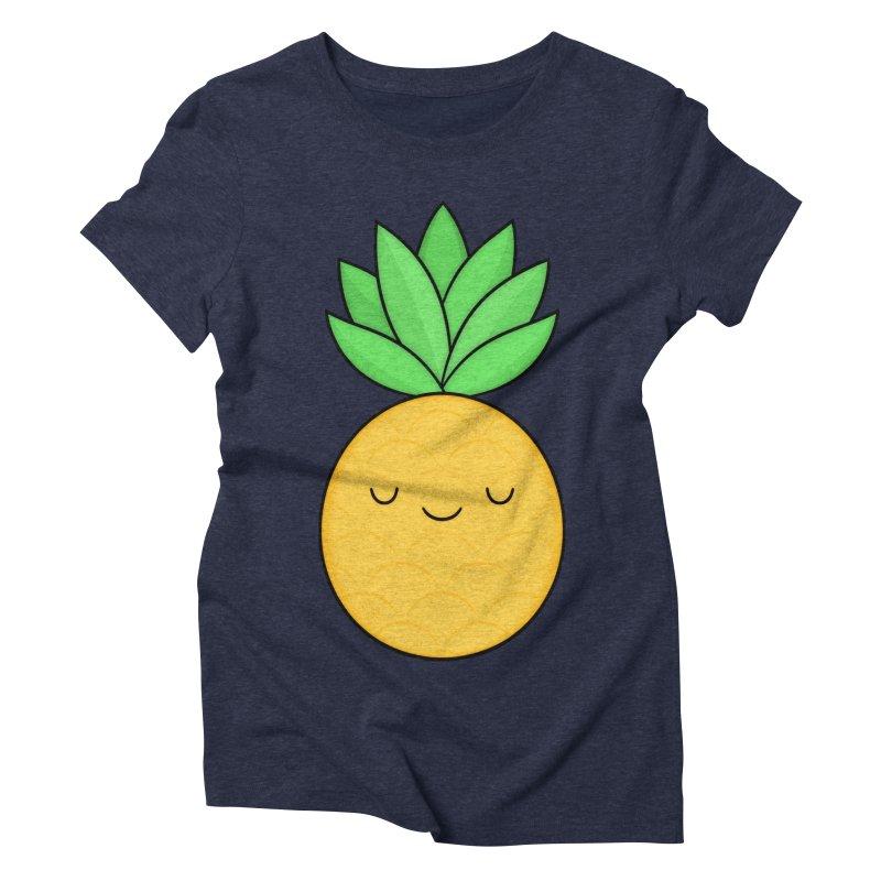 Happy Pineapple Women's Triblend T-Shirt by Kim Vervuurt