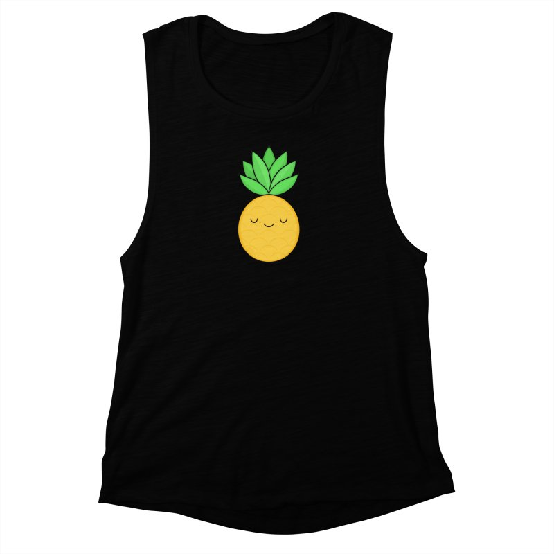 Happy Pineapple Women's Tank by Kim Vervuurt