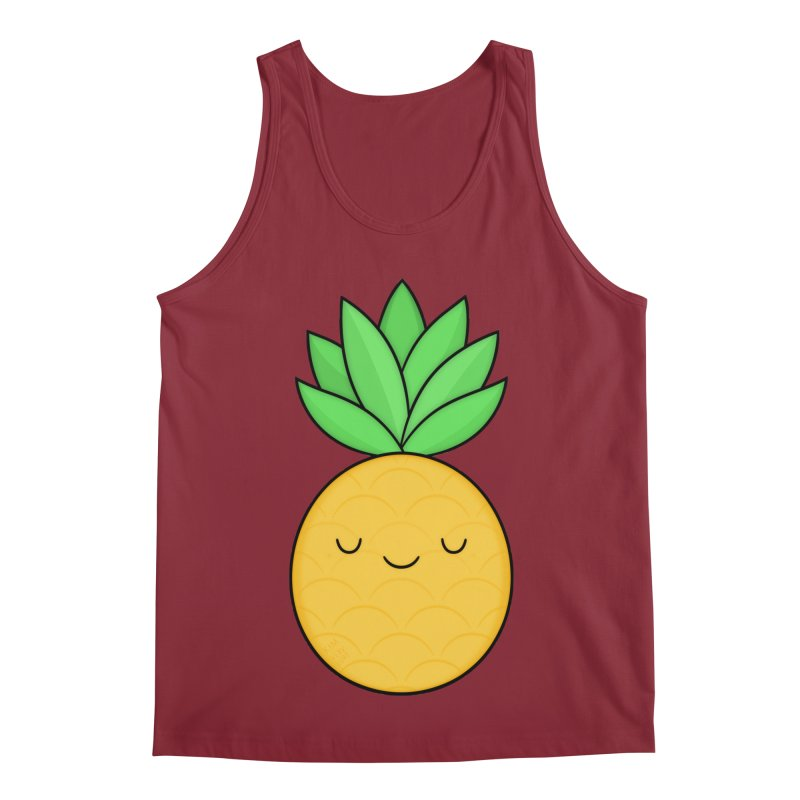 Happy Pineapple Men's Tank by Kim Vervuurt