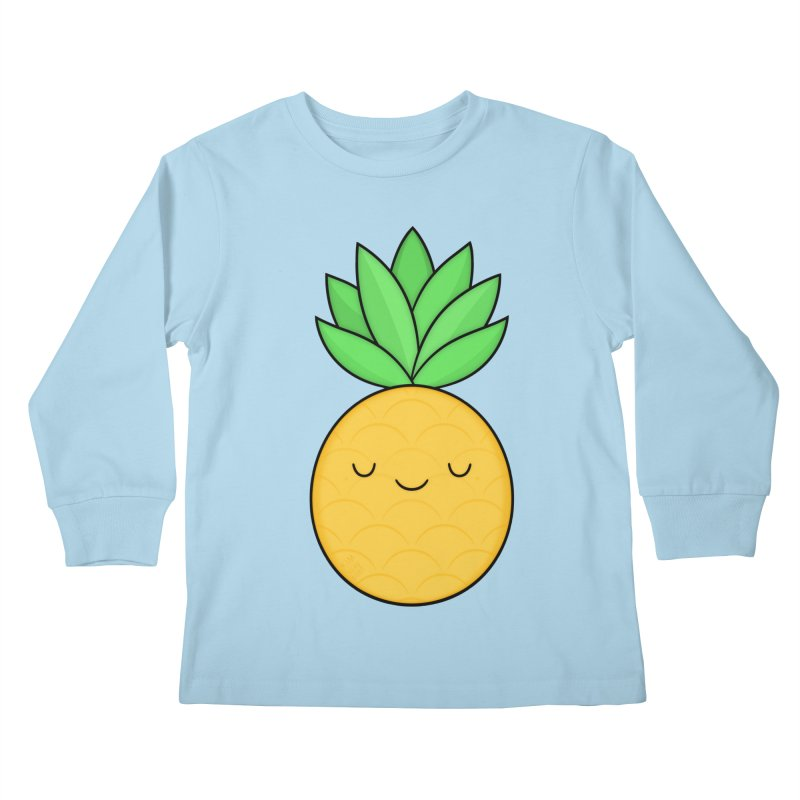 Happy Pineapple Kids Longsleeve T-Shirt by Kim Vervuurt