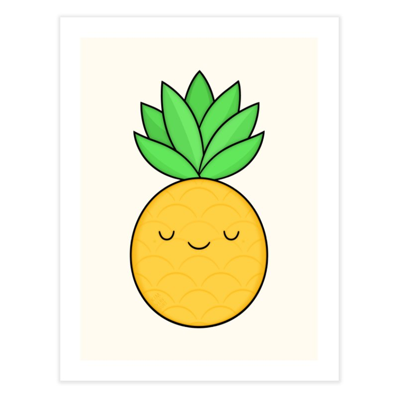 Happy Pineapple Home Fine Art Print by Kim Vervuurt