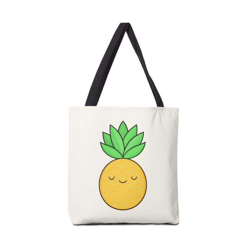 Happy Pineapple Accessories Tote Bag Bag by Kim Vervuurt