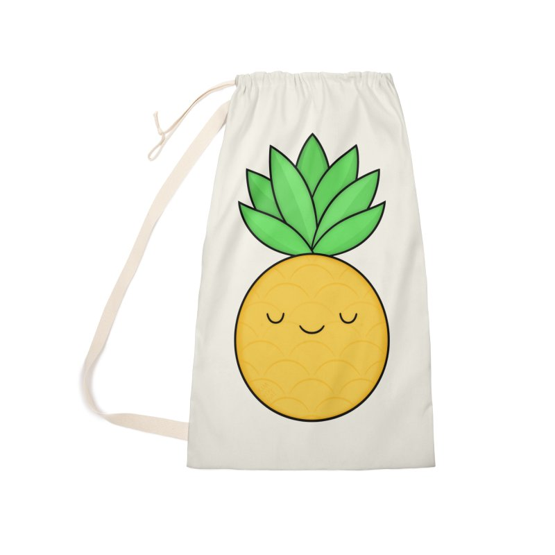 Happy Pineapple Accessories Laundry Bag Bag by Kim Vervuurt