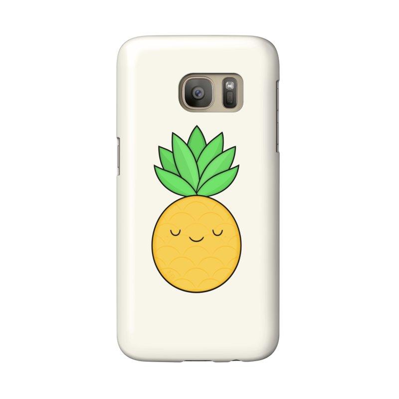 Happy Pineapple Accessories Phone Case by Kim Vervuurt