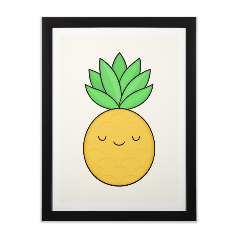 Happy Pineapple Home Framed Fine Art Print by Kim Vervuurt