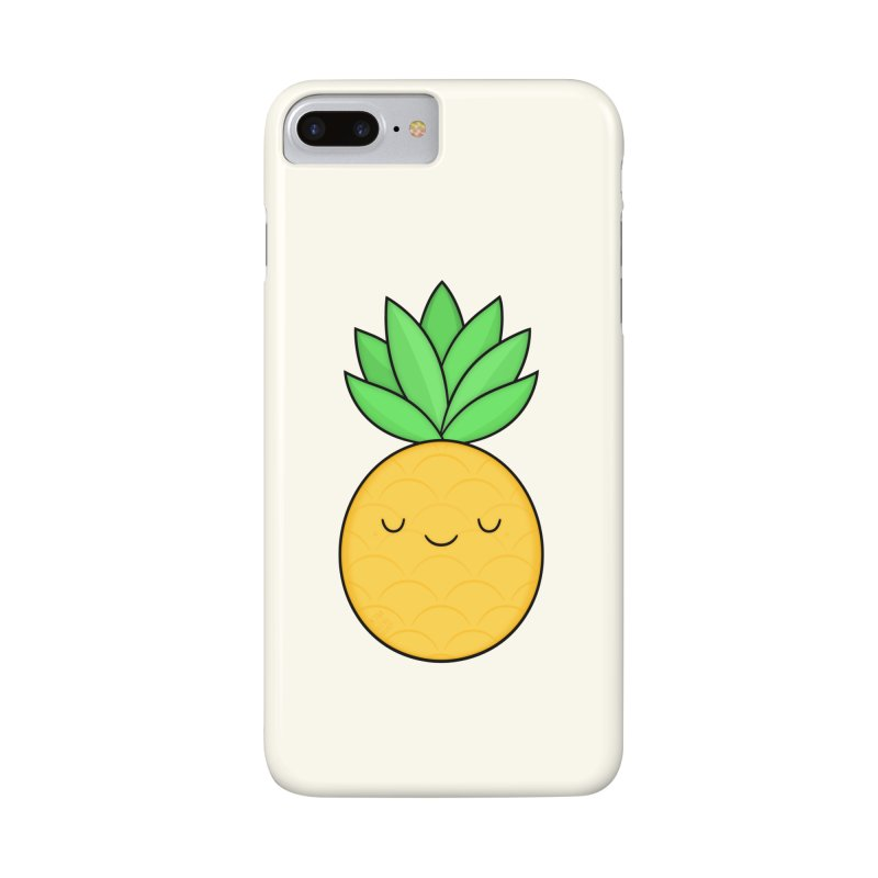 Happy Pineapple Accessories Phone Case by Kim Vervuurt