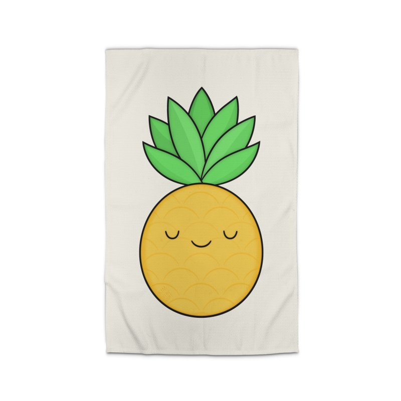 Happy Pineapple Home Rug by Kim Vervuurt