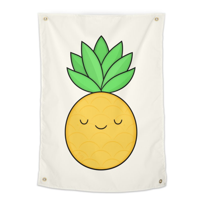 Happy Pineapple Home Tapestry by Kim Vervuurt
