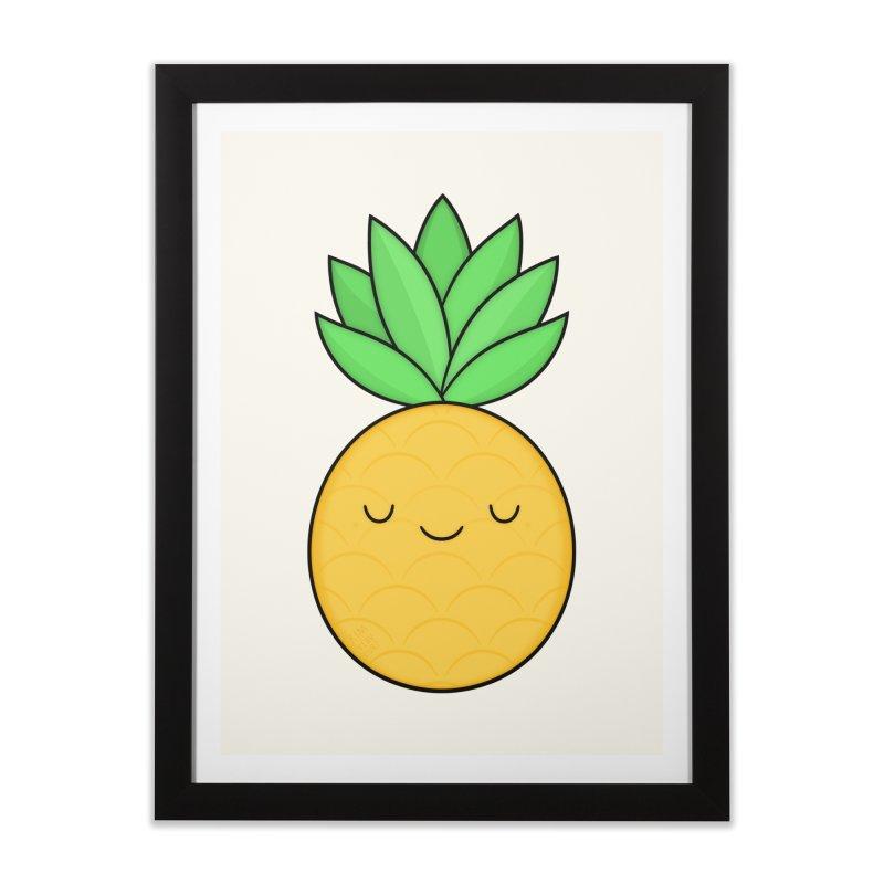 Happy Pineapple Home Framed Fine Art Print by Kim Vervuurt