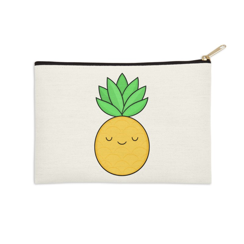 Happy Pineapple Accessories Zip Pouch by Kim Vervuurt