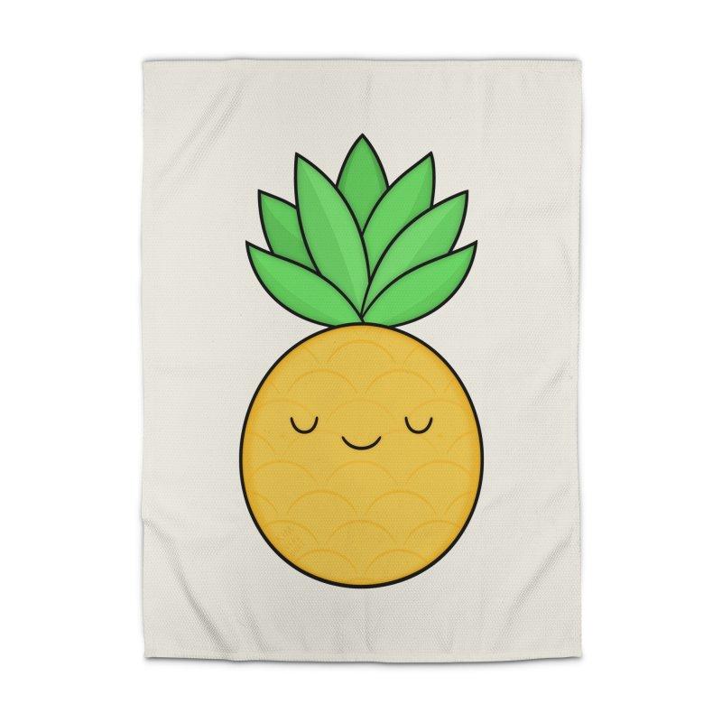 Happy Pineapple Home Rug by Kim Vervuurt