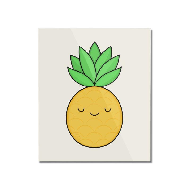 Happy Pineapple Home Mounted Acrylic Print by Kim Vervuurt