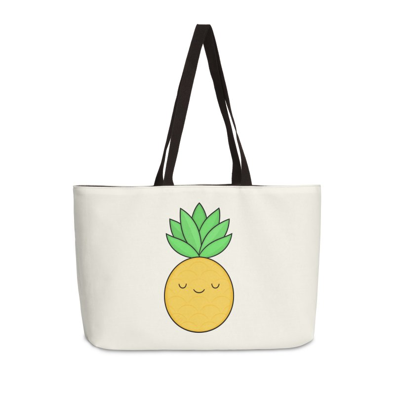 Happy Pineapple Accessories Weekender Bag Bag by Kim Vervuurt
