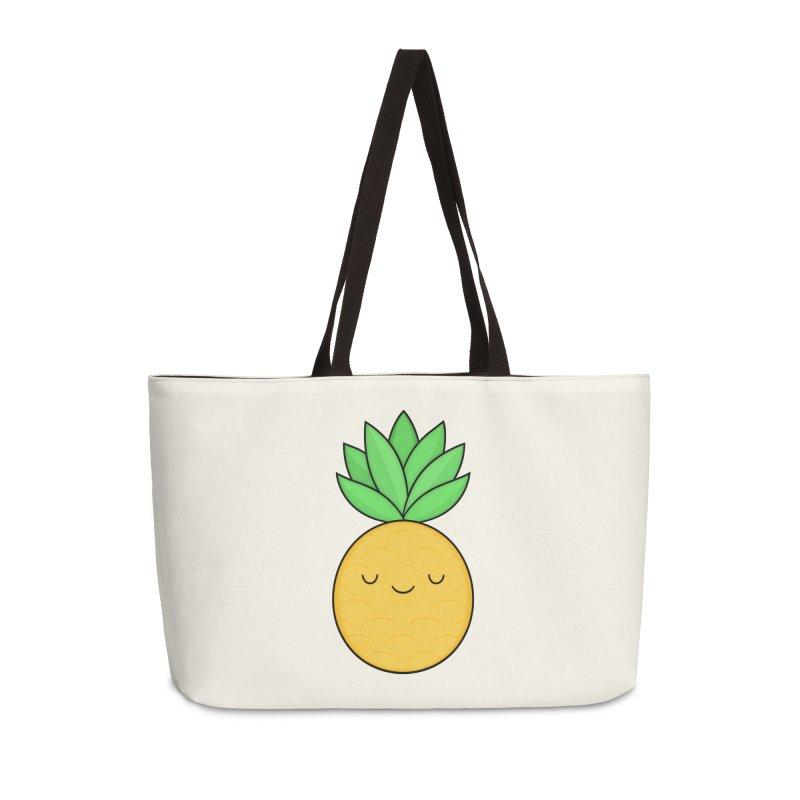 Happy Pineapple Accessories Bag by Kim Vervuurt
