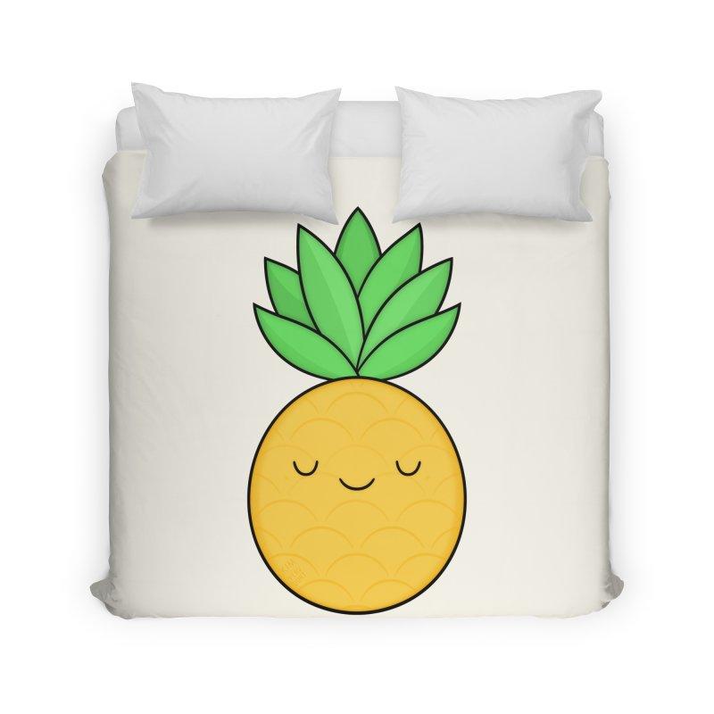 Happy Pineapple Home Duvet by Kim Vervuurt