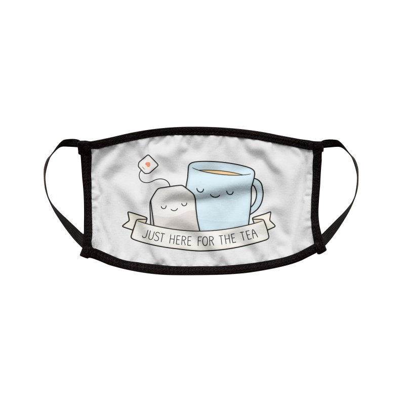 Just Here For The Tea Accessories Face Mask by Kim Vervuurt