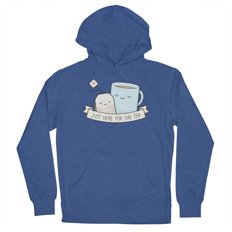 Just Here For The Tea Women's French Terry Pullover Hoody by Kim Vervuurt