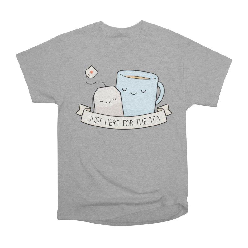 Just Here For The Tea Men's Heavyweight T-Shirt by Kim Vervuurt