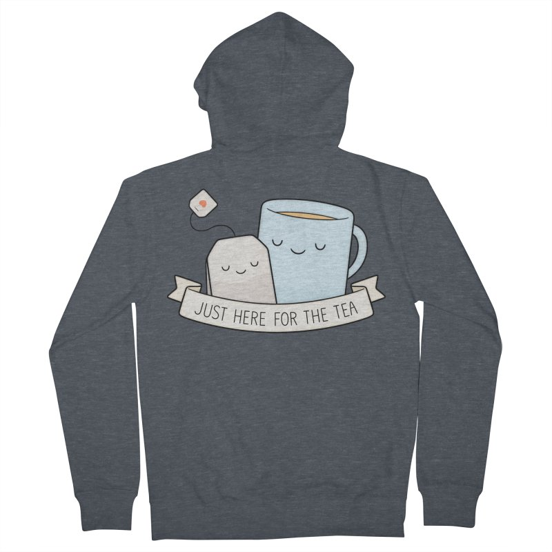 Just Here For The Tea Women's French Terry Zip-Up Hoody by Kim Vervuurt