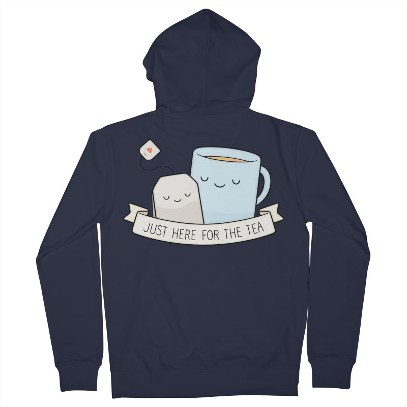 Just Here For The Tea Men's French Terry Zip-Up Hoody by Kim Vervuurt