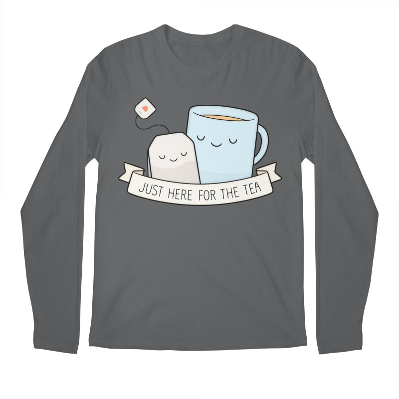 Just Here For The Tea Men's Longsleeve T-Shirt by Kim Vervuurt