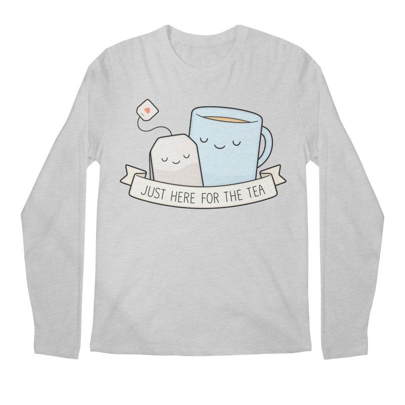 Just Here For The Tea Men's Regular Longsleeve T-Shirt by Kim Vervuurt