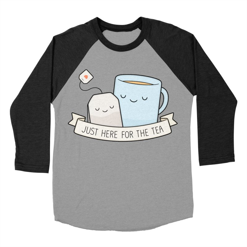 Just Here For The Tea Men's Baseball Triblend Longsleeve T-Shirt by Kim Vervuurt