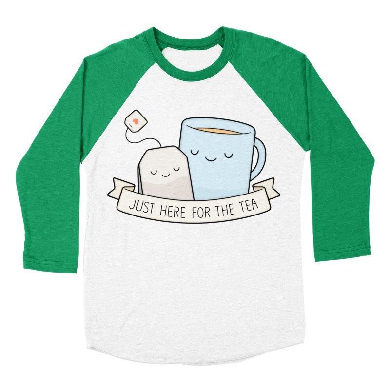 Just Here For The Tea Men's Baseball Triblend Longsleeve T-Shirt by Kim Vervuurt