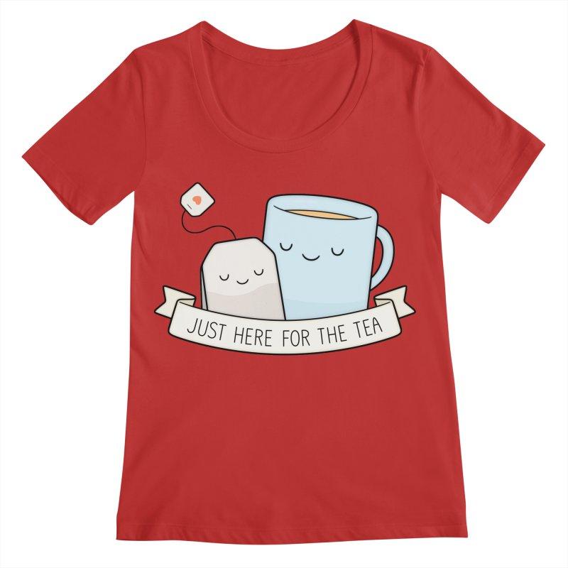 Just Here For The Tea Women's Regular Scoop Neck by Kim Vervuurt