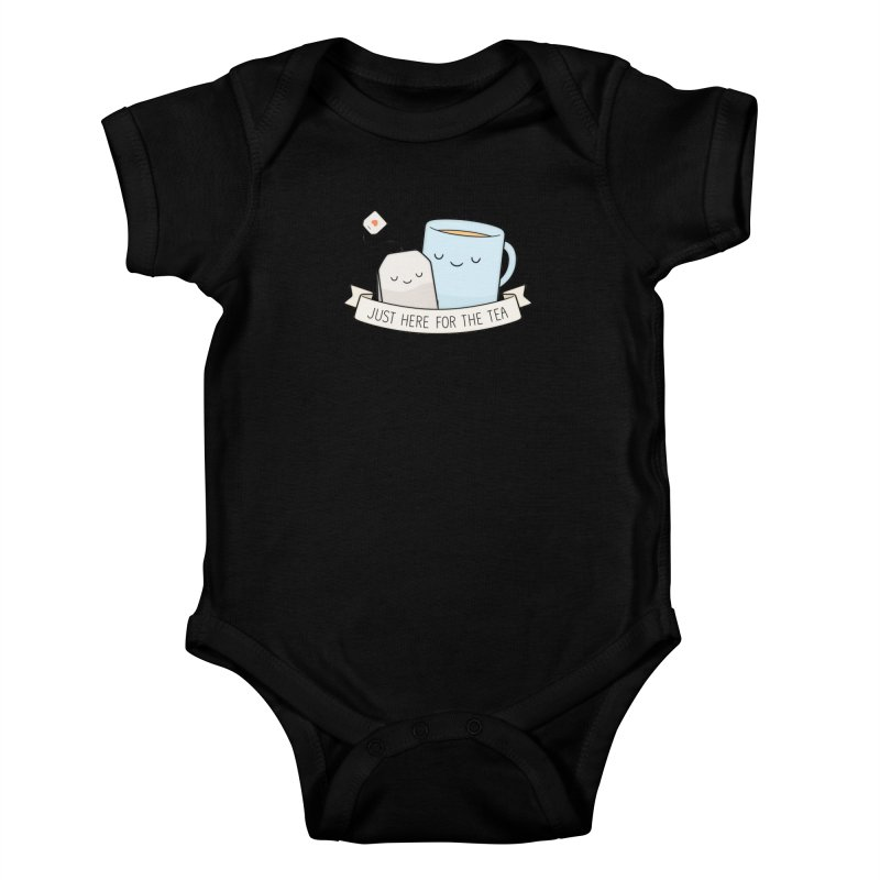 Just Here For The Tea Kids Baby Bodysuit by Kim Vervuurt
